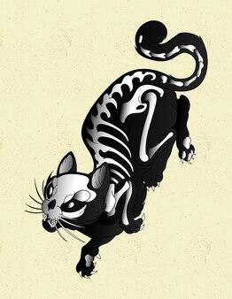 Kot halloween upiorny