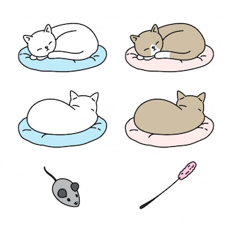 Kot kociak kreskówka poduszka do spania