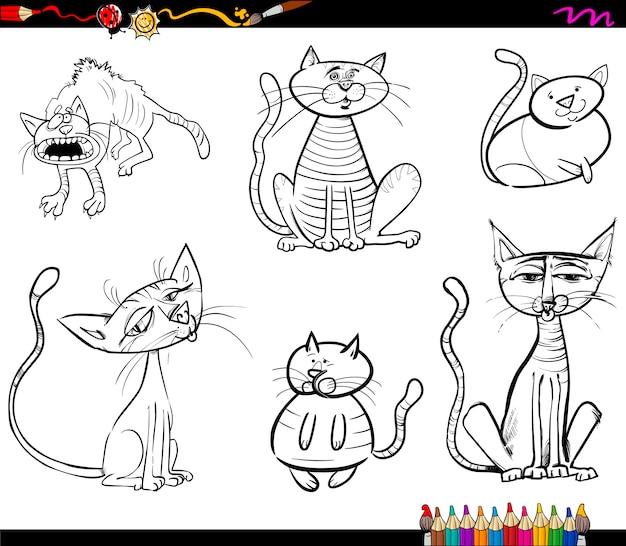 Kot kreskówka kolorowanki