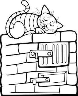 Kot na kreskówka piec do pieczenia