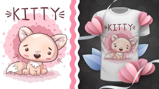 Kot - pomysł na koszulkę z nadrukiem