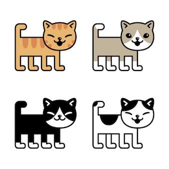 Kot postać kotek perkal kreskówka