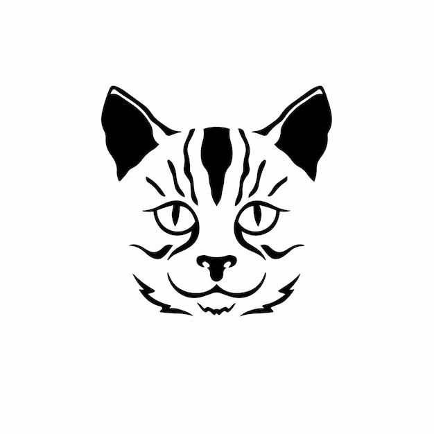 Kot symbol logo tribal tattoo design wzornik ilustracji wektorowych