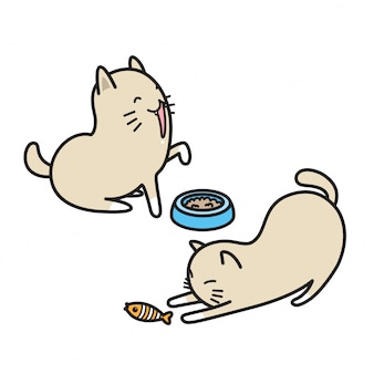 Kot wektor kotek kreskówka perkal