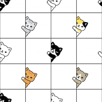 Kot wzór kotek perkal kreskówka