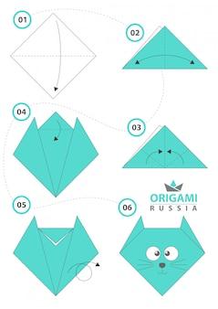 Kotek origami