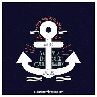 Kotwy emblematów wektor ustawione morskich