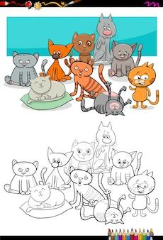 Koty grupy kolorowanka