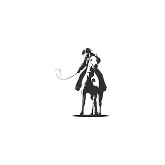 Kowbojem rysunek ilustracja na białym tle