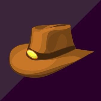 Kowbojski kapelusz izometryczny