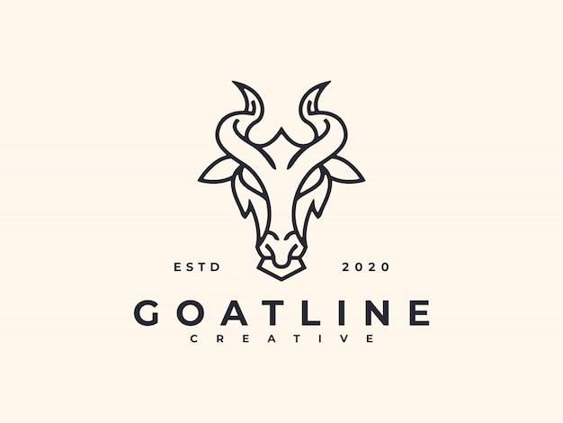 Koza line art logo design minimalistyczny kreatywny