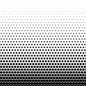 Krąg czarne tło wektor półtonów