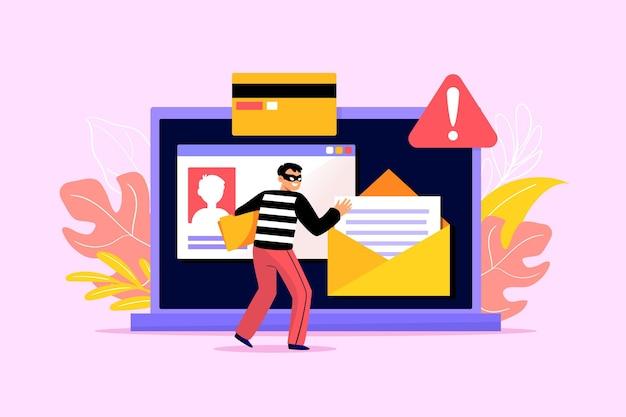 Kradzież ilustracyjnej koncepcji danych