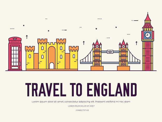 Kraj anglii podróż wakacje miejsca i funkcji