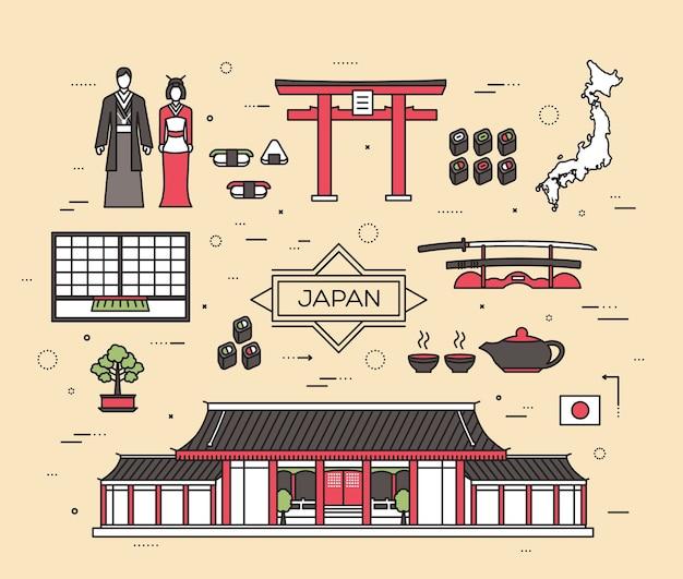 Kraj japonia podróż towarów