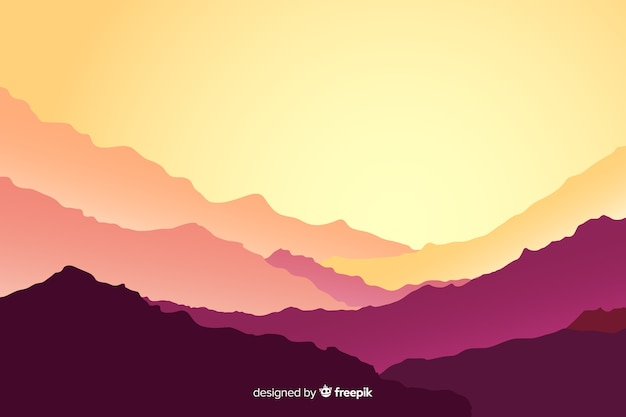 Krajobraz gór w tle