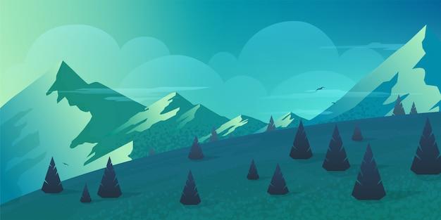 Krajobraz górski panoramiczne tło.