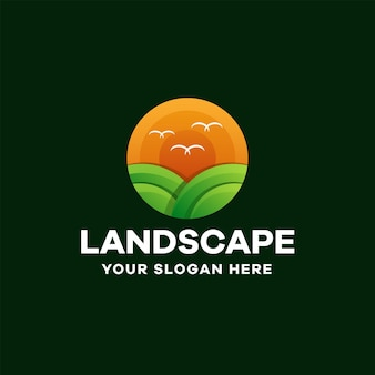 Krajobraz gradient kolorowe logo design