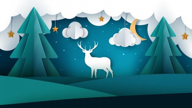 Krajobraz i jelenie