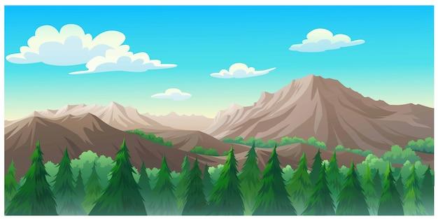 Krajobraz lasu w ciągu dnia tak piękny.