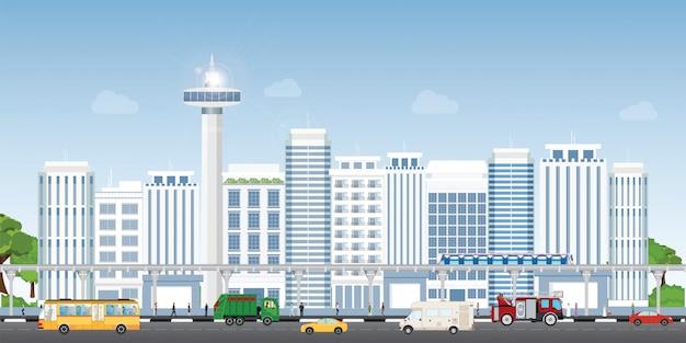 Krajobraz miejski miasta