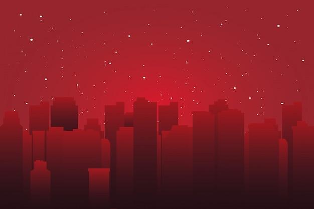 Krajobraz miejski z wysokimi drapaczami chmur