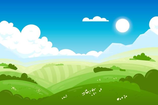 Krajobraz naturalny - tło do wideokonferencji