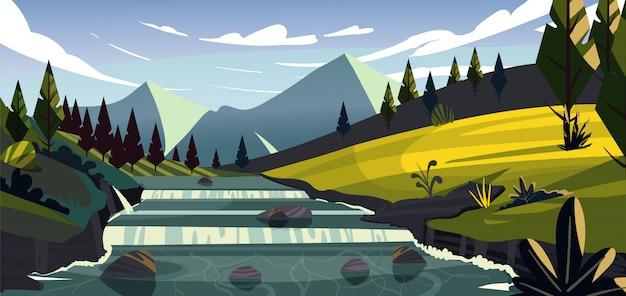 Krajobraz nowej zelandii.