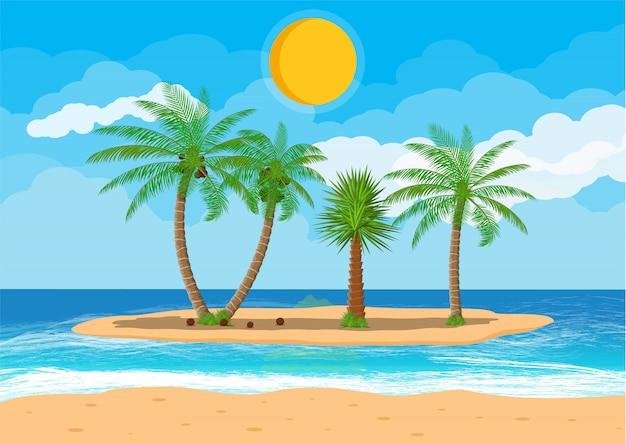 Krajobraz palmy na plaży