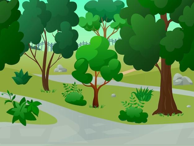 Krajobraz parku gry