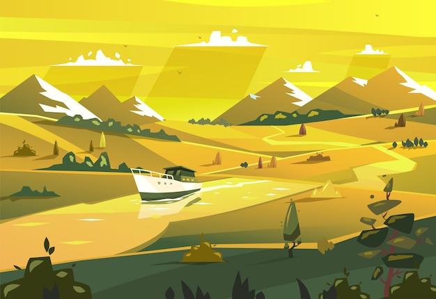 Krajobraz wybrzeża.