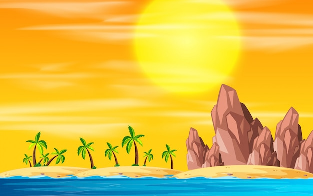 Krajobraz wyspy na plaży