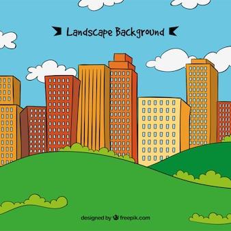 Krajobrazu miasta tle