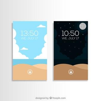 Krajobrazu plaży tapety na telefon komórkowy