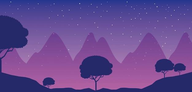 Krajobrazy podróży wanderlust