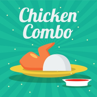 Krajowa smażona kurczak dnia ilustracja