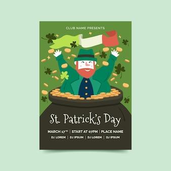 Krasnoludek plakat św. dzień patryka