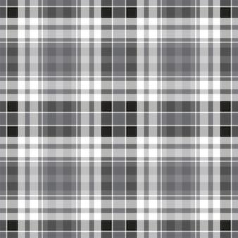 Kratę wzór bez szwu. sprawdź teksturę tkaniny. paski kwadratowe tło. projekt tkaniny w kratę wektor.