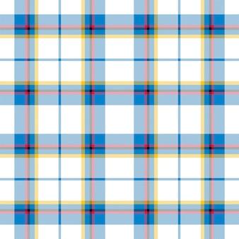 Kratę wzór bez szwu. sprawdź teksturę tkaniny. paski kwadratowe tło. projekt tkaniny w kratę wektor