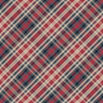 Kratę wzór bez szwu. sprawdź teksturę tkaniny. paski kwadratowe tło. projekt tkaniny w kratę.