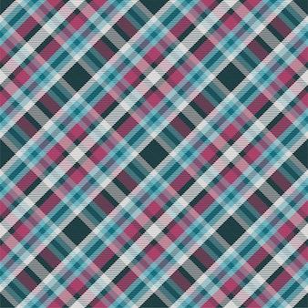 Kratę wzór bez szwu. sprawdź teksturę tkaniny. paski kwadratowe tło. wektor wzór kratę tekstylną.