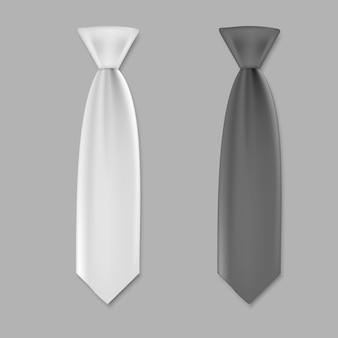 Krawaty dla mężczyzn szablon na białym tle