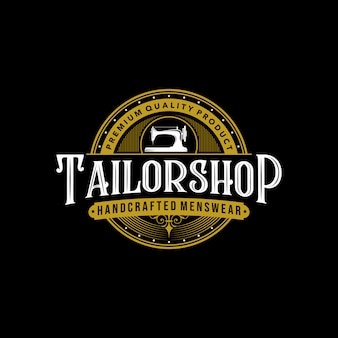 Krawiec sklep vintage logo premium tatuaż typografia projekt