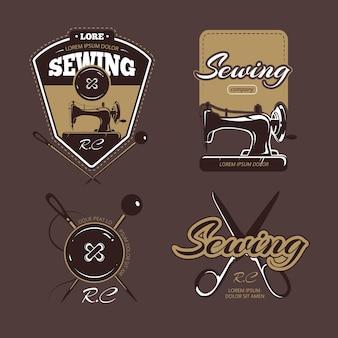 Krawiectwo kolorowe logo, metki i odznaki.