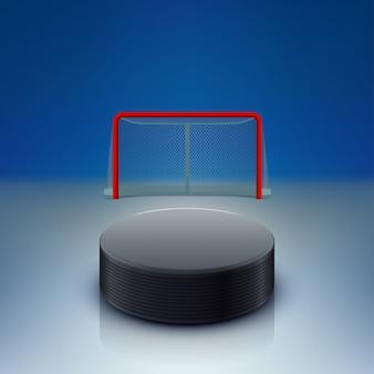 Krążek hokejowy i bramy