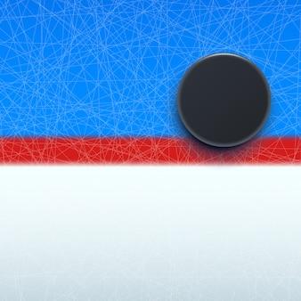 Krążek hokejowy na linii