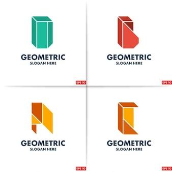 Kreacja geometria abcd szablon logo z miejscem na haśle