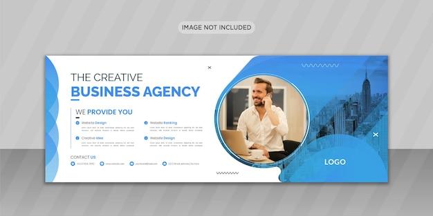 Kreatywna agencja biznesowa facebook okładka zdjęcia z kreatywnym kształtem lub projektowaniem banerów internetowych