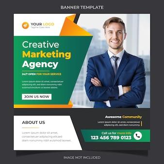 Kreatywna agencja biznesowa korporacyjne media społecznościowe instagram baner post szablon projekt wektor premium