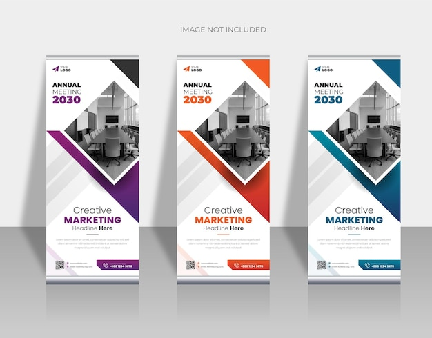 Kreatywna agencja biznesowa roll up banner design lub pull up banner design